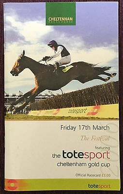 Signed Race Card 2006 Cheltenham Gold Cup AUTOGRAPHED RUBY WALSH TIMMY MURPHY