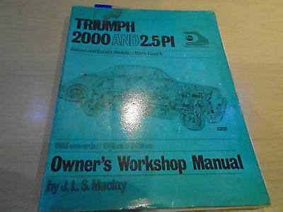 Triumph 2000 and 2.5 PI Owners Workshop Manual