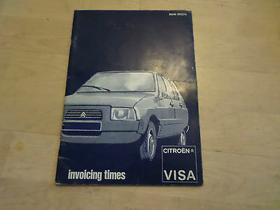 CITROEN VISA INVOICING TIMES MAN 008314. I have many rare items listed today