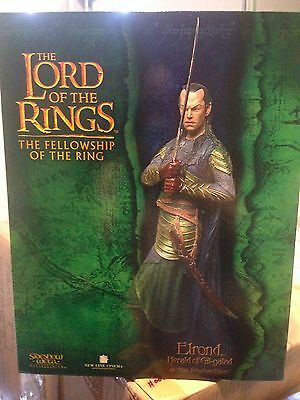 Lord of the Rings Sideshow Weta Elrond Herald of Gil Galad RARE 1213/2000