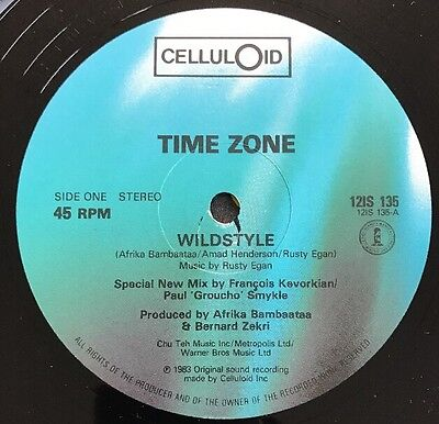 """Time Zone - Wildstyle Celluloid 12"""" Single Streetsounds Crucial Electro"""