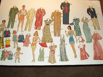 Paper Doll Family & Their Family/m3436/cut