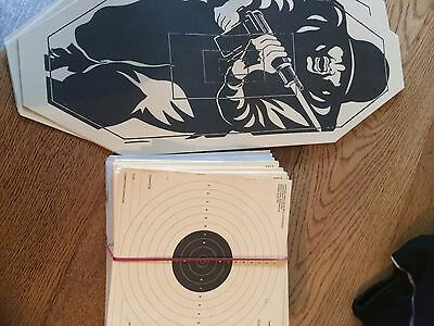 2 Types Of CARD TARGETS AIR RIFLE PISTOL HUNTING SHOOTING PRACTICE