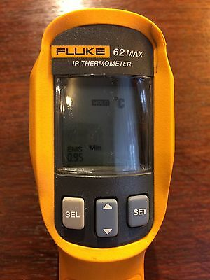 Used Fluke 62 Max Ir Thermometer Ip-54 3M Drop Water & Dust Resistant -30 / 500C
