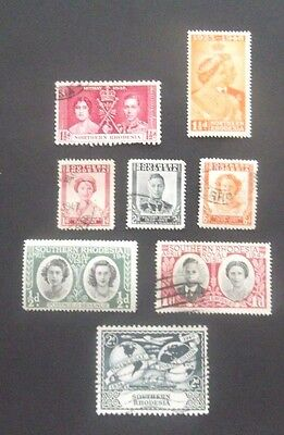 Northern/Southern Rhodesia-Mix of issues-Mainly Used
