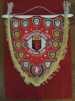 Manchester United Honours Coffer Pennant Circa Late 70's / Early 80's