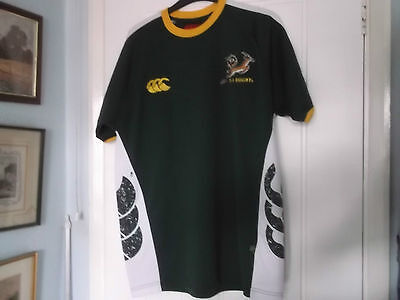 South Africa Home Rugby Union Shirt Medium Size Canterbury Make