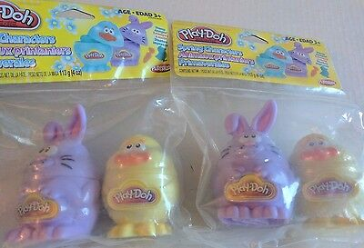 Lot of 2 Play-Doh Spring Characters Stampers Easter NIP New Chick Bunny