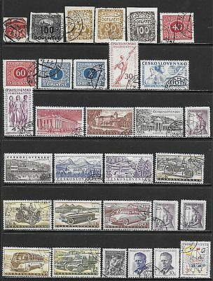 CZECHOSLOVAKIA Interesting Early All Used Issues Selection 'Z' (Dec 0419)