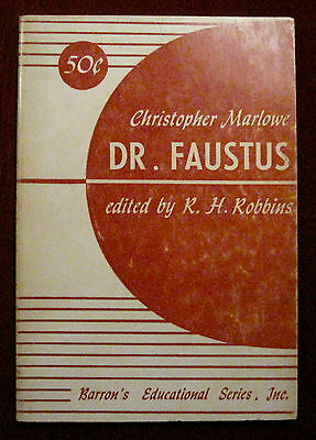 """""""Dr. Faustus"""" Christopher Marlowe 1948, Play Script Book, Theater"""