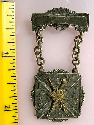 Antique F.P.L.E. Pin Pythian Sisters, Women's branch of Knights of Pythias Medal