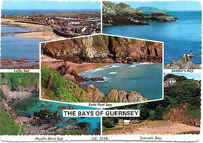 The Bays of Guernsey - Channel Islands - Multiview - Postcard 1985