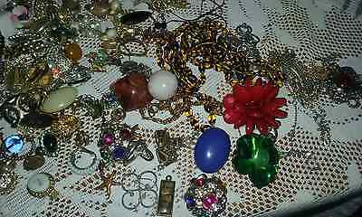 job lot of vintage jewellery/pendants/earrings/chains - NO RESERVE.
