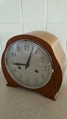 Old Antique Wooden Cased wind up Clock. With winder