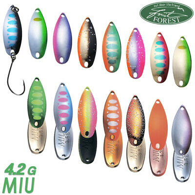 Assorted Colors FOREST MIU NATIVE 4.2 gr Trout Spoon