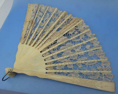 Ladies FanHand Held Antique Victorian Lace