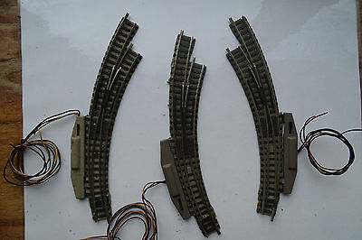 Fleischmann Piccolo n Gauge - 3 x Curved points with motors.