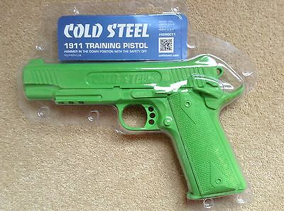 Cold Steel 1911 Rubber Training Pistol - Green Martial Arts Fake Weapon Trainer