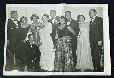 1940s Group Of Men And Women In Formal Wear Photo~Tuxedos~Gowns