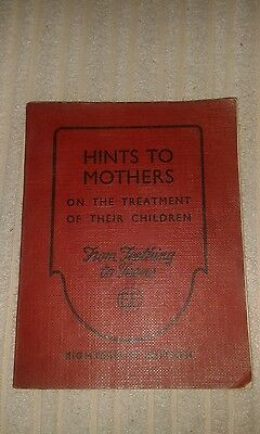 Vintage mini book Hints to Mothers in the Treatment of their Children