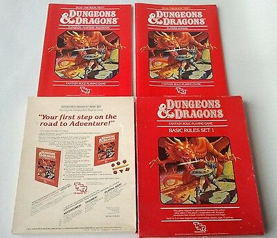 Dungeons & Dragons Basic Rules Set 1 by TSR 1983 (D&D / AD&D) Good Condition