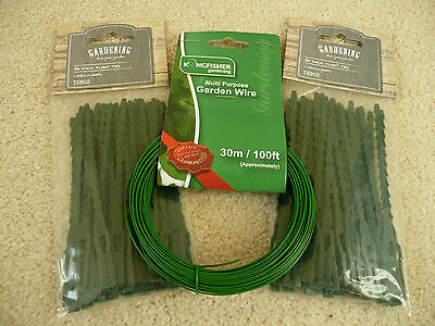 2 x 50 Garden Plant Ties (11.5cm long) with Garden Wire