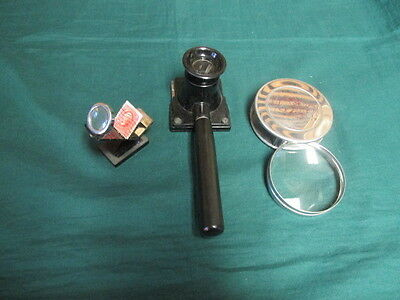 Old viewing/magnifying equipment found with stamp collection