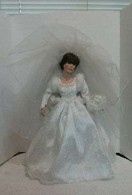 Crystal bride porcelain doll by Patricia Rose Paradise Galleries