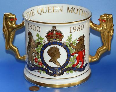 Paragon Queen Mother Lion Handle Royal Commemorative Loving Cup Limited Edition