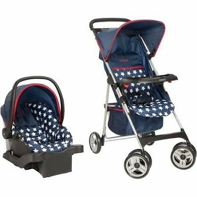 Travel System Stroller Baby Infant Car Seat Toddler Storage Basket Compact Canop