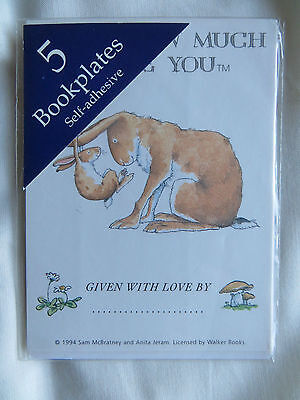 5 x Guess How Much I Love You - Children's Nursery Bookplates - Self-adhesive.