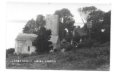 LLANSTADWELL Parish Church Early RP Pembrokeshire Postcard