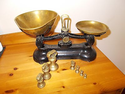 Librasco Cast Iron  Kitchen Scales And Bell Weights