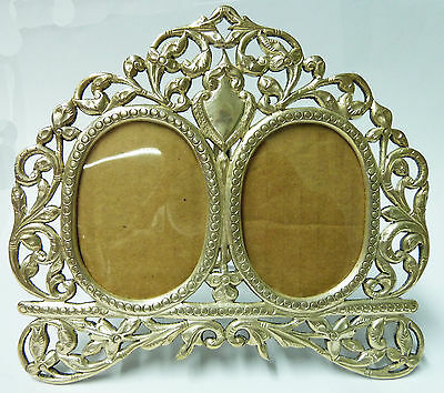 Vintage Unusual Solid Silver Cast Twin Photo Frame 167g (Unused) 160mm x 135mm