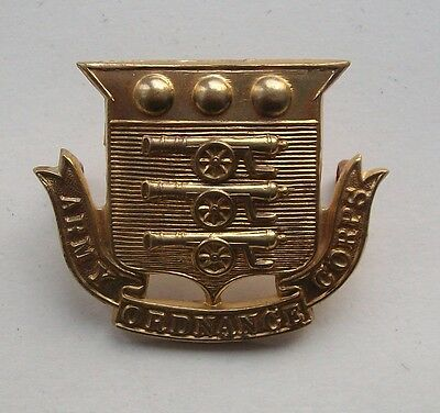 British Army, Army Ordnance Corps Cap Badge.