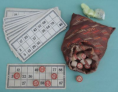Old Russian Soviet LOTTO GAME compleat SET 1950