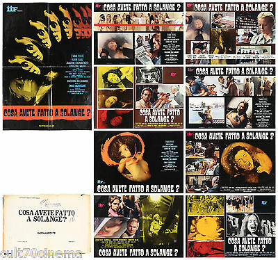 Cosa Avete Fatto A Solange? Set Fotobuste 8+Sogg. Thriller 1972 Used Lobby Card