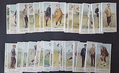 Cope Bros & Co Ltd. COPE'S GOLFERS - REPRINT Set of 50 Cards MINT CONDITION