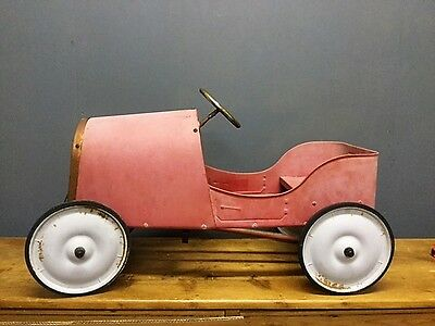 Retro Bugatti Style French Metal 'Baghera' Legend Red Racing Toy Pedal Car