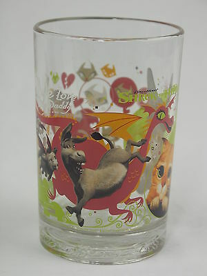 "Shrek ""We Love You Daddy"" McDonald's Glass Tumbler"