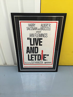 Original Uk Double Crown Style B Live And Let Die James Bond 1973