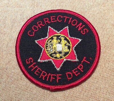 WV West Virginia Sheriffs Corrections Patch (3In)
