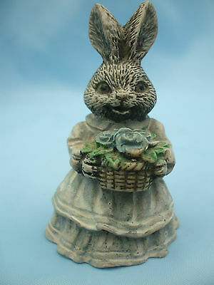 Collectable Rabbit Ornament with a Basket of Flowers