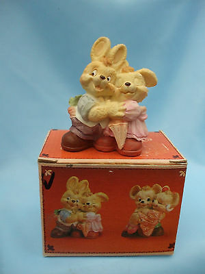 Boxed 1994 J.C. Pair of Sweetheart Couples Rabbits Ornament