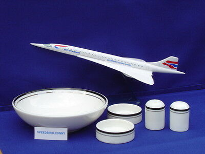 British Airways Concorde 5 PIECE COLLECTION ROYAL DOULTON USED.