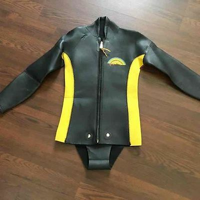 Vintage 1970's Primo Sea Suits Beaver Tail Retro Wetsuit Jacket Lightning Bolt .