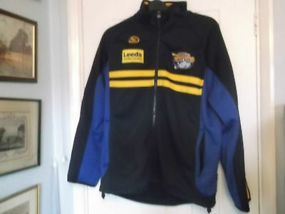 Leeds Rhino,s Rugby League Fleece Jacket Small Size Isc Make