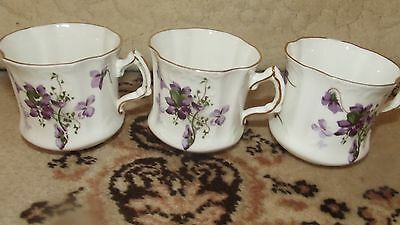 Hammersley victorian violets coffee cups