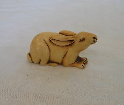 Carved Resin Rabbit Figurine
