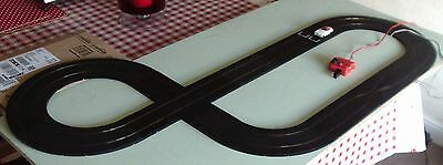 Minic Motorway crossroads racing layout reconditioned with mercedes car